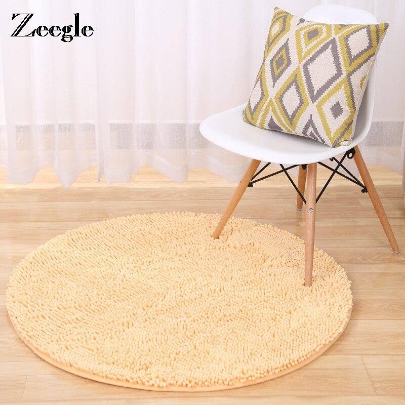 US $17.03 45% OFF Zeegle Round Floor Mat Carpet For Living Room Absorbent  Kitchen Rug Long Hair Mat Kids Room Decor Office Chair Floor Mats-in Carpet  ...