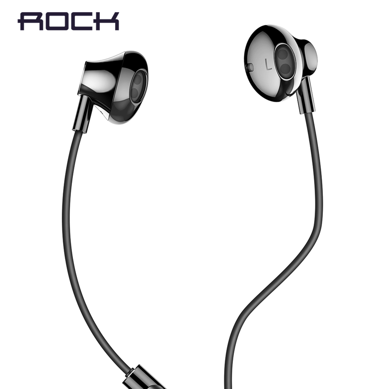 Rock In-Ear Earphone with Microphone for Xiaomi Huawei 35mm Metal Earphone Super Bass Headset with Mic Earbuds Fone De Ouvido