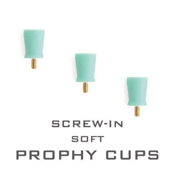 80 Pieces Dental Supplies Disposable Screw- In Soft Prophy Cups Precision Screw Bit