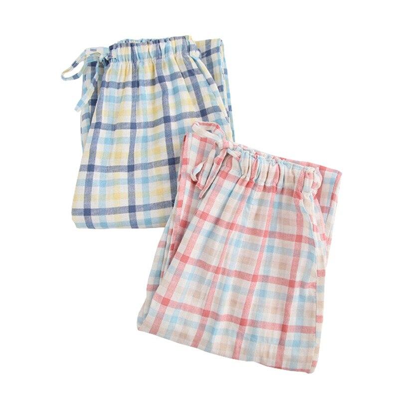Ladies Sleep Trousers Spring And Autumn Lovers Pajama Pants Cotton Double Cotton Yarn Lounge Sleep Bottoms Pants