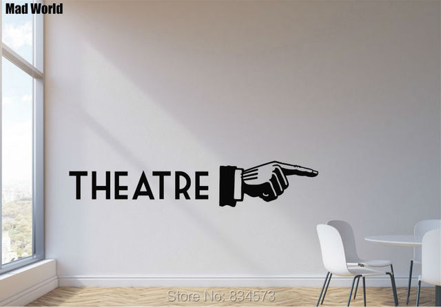 Mad World THEATER Cinema Film Play Wall Art Stickers Wall Decal Home ...