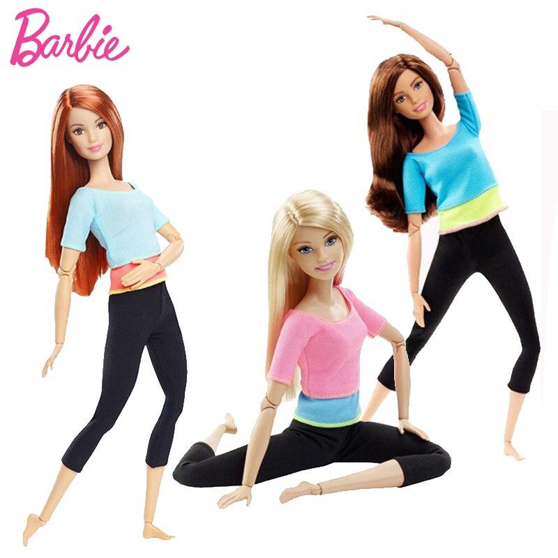 Originale Barbie Bambola in Stile Movimento Tutte Le Articolazioni Bambole Mobili Yoga Giocattolo Modello Per Il Piccolo Bambino Regalo Di Compleanno Barbie Girl Bonecas