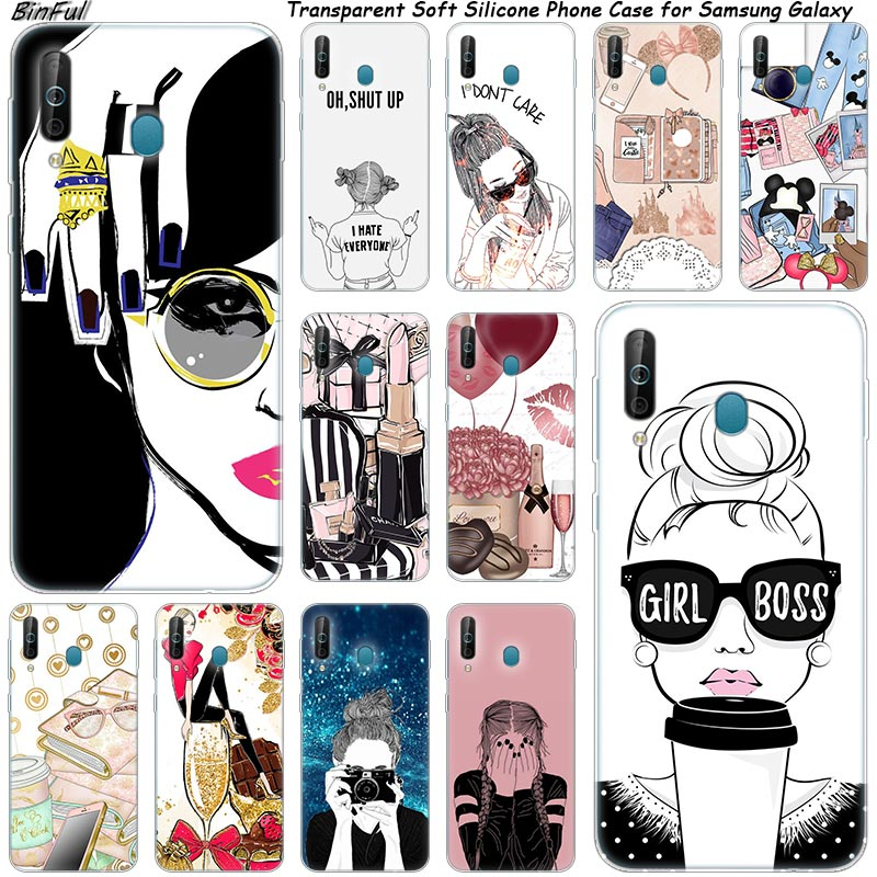 Hot super Girl Boss Silicone Phone Case For Samsung Galaxy A80 A70 A60 A50 A40 A40S A30 A20E A2CORE M40 Note 10 Plus 9 8 5 Cover image