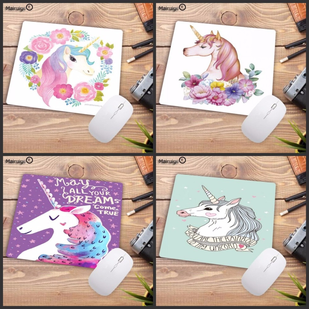 Mairuige Cool New Cartoon Unicorn Customized Laptop Gaming Speed Mouse Pad Size For 18x22cm 20x25cm 25x29cm Rubber Mousemats