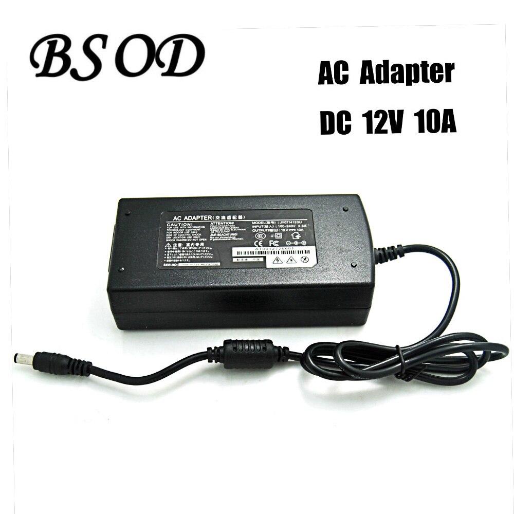 Alimentation Adaptateur Sortie DC 12 V 10A 120 W Entrée AC100-240V 50-60 H Avec CE Standard Principalement Applicable Transformateur Pour LED Bande