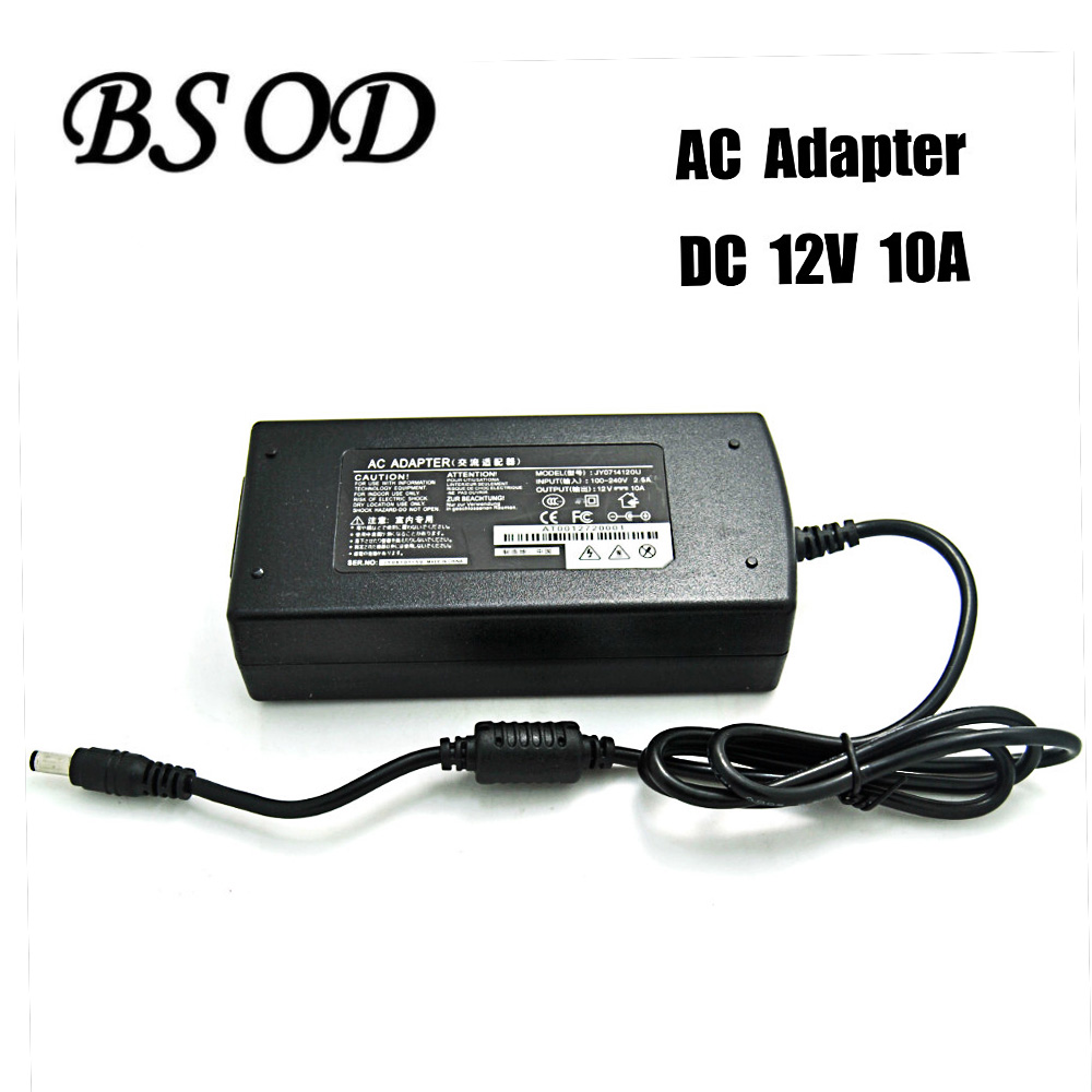 все цены на  Power Supply Adapter Output DC 12V 10A 120W Input AC100-240V 50-60H With CE Standard Mainly Applicable Transformer For LED Strip  онлайн