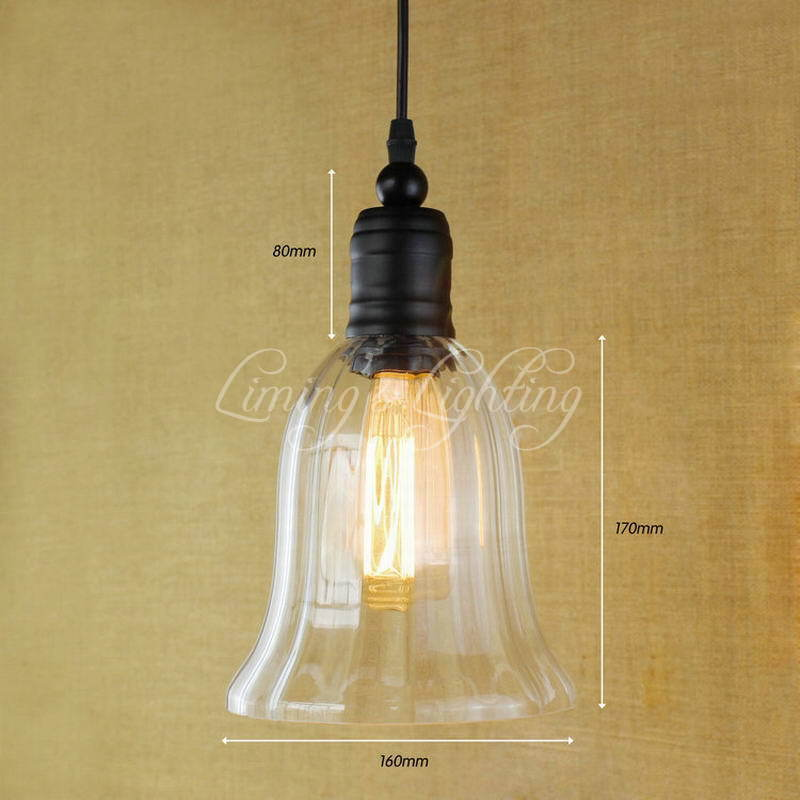 Modern Hanging Clear Glass Horn Shade Pendant Lamp With Edison Light Bulb Kitchen Lights And Cabinet Lights hanging clear glass horn shade pendant lamp with edison light bulb kitchen lights and cabinet lights