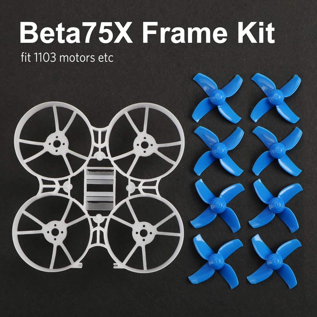 Beta75X 2 S Whoop Rahmen Kit mit 2 Sets 40mm 4-Klinge Requisiten 1,5mm Welle Blau für 75mm 2 S Bürstenlosen Whoop Drone Wie Beta75X BNF