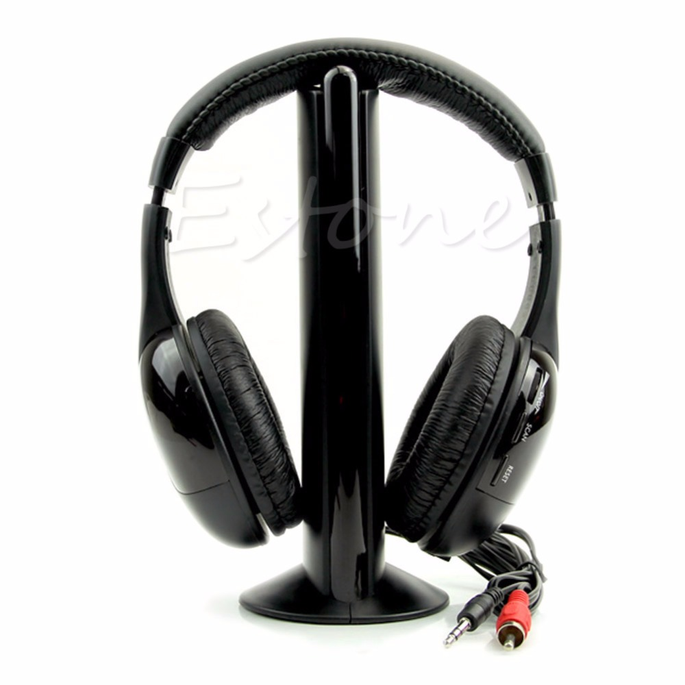 New 5 in 1 Hi-Fi Wireless Headset Headphone Earphone for TV DVD MP3 PC сигнализатор поклевки hoxwell new direction k9 r9 5 1