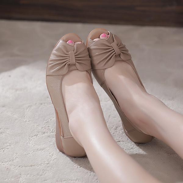 Fashion 2017 New Summer Shoes Woman Open Toe Shoes Women Genuine Leather  Wedge Sandals Platform Sandals Women Sandals-in Middle Heels from Shoes on  ... b44761284d