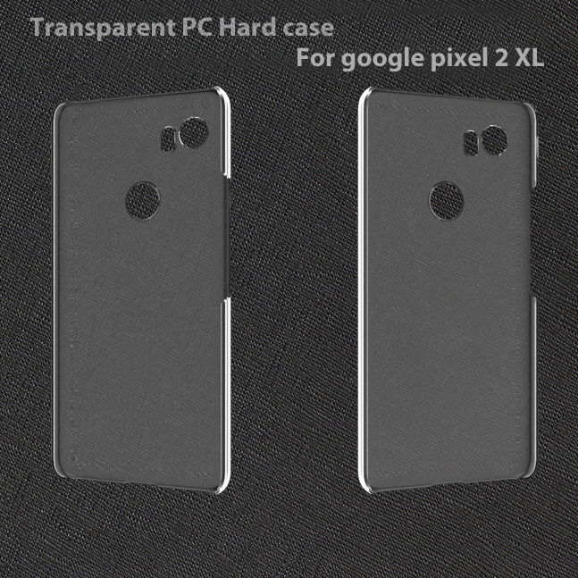 10Ocs/Lot.Transparent Crystal Clear Slim Hard PC Protective Back Case Cover For GOOGLE PIXEL 2 XL