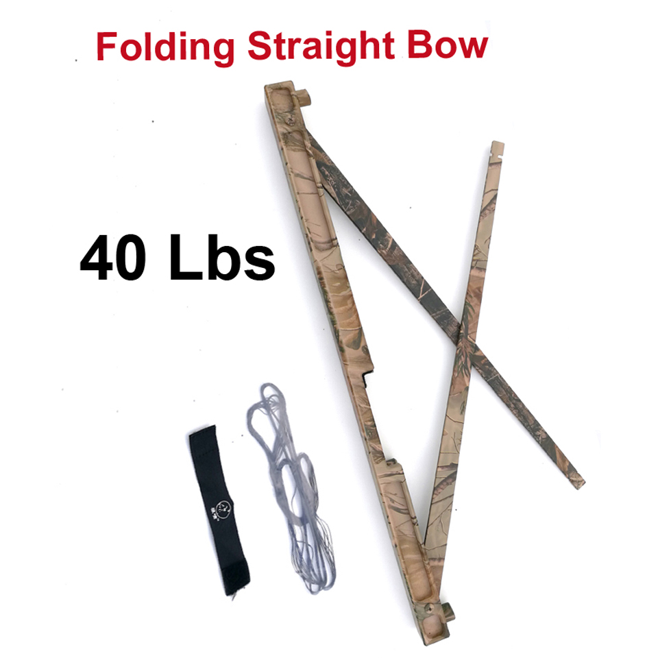 40 Lbs Professional Folding Straight Bow Competitive Straight Bow Portable Archery Shooting in Camo for For Hunting 40 50 60lbs gold folding bows archery hunting shooting straight bow and arrows aluminum alloy bow riser portable survival tools