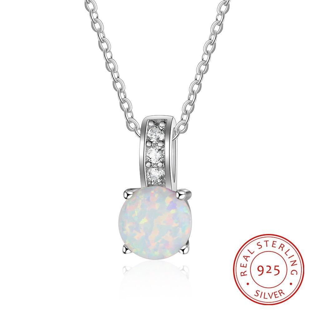 TOP6 femmes beaux bijoux, délicate opale pendentif, 925 collier en argent pour bien-aimé femmes