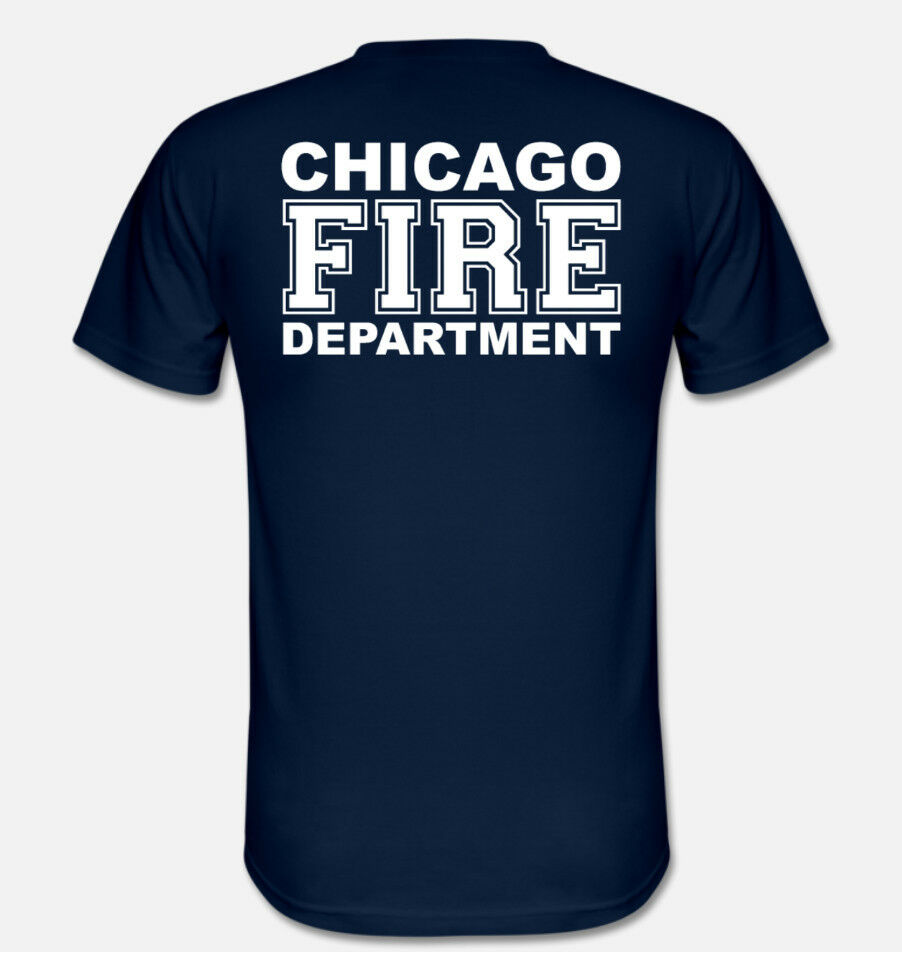 2019 Fashion Double Side Chicago Fire Tv T Shirt Firefighter T Shirt Unisex Tee in T Shirts from Men 39 s Clothing