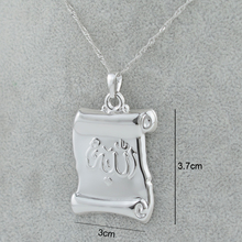 Silver Color Allah Charm Pendant Necklaces Islam Muslim Chain Fashion Women Men Jewelry Middle East Book Design #201204