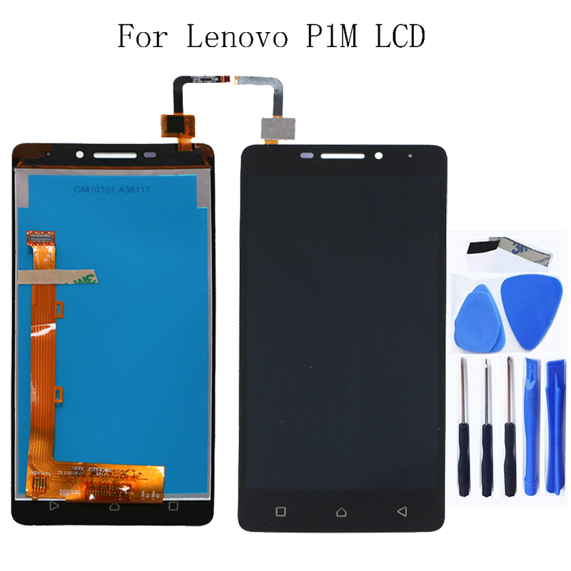 100% tested for Lenovo Vibe P1m <font><b>P1MA40</b></font> P1mc50 new LCD monitor touch display digitizer free shipping image