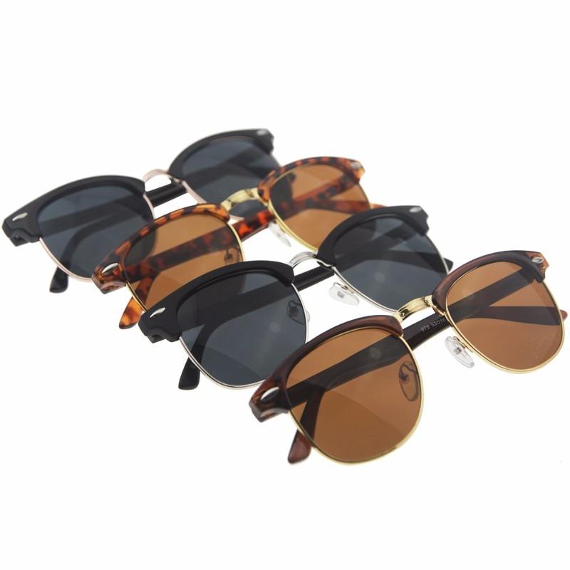 Половина из металла Солнцезащитные очки для женщин Для мужчин Для женщин 2018 Брендовая Дизайнерская обувь очки зеркало Защита от солнца Стекло Мода gafas-де-сол Leopard вождения Защита от солнца очки