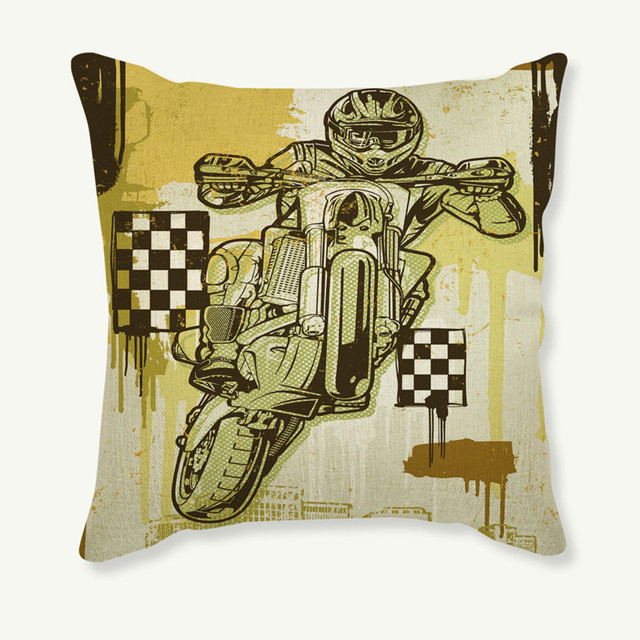 Motorcycle Mexico Women Skull Cushion Cotton Linen Case Home Decoration  Pillowcase Car Sofa Decorative Throw Pillows 2f8546f59