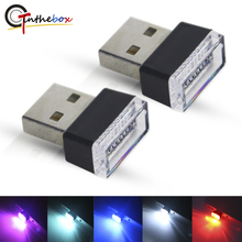 Gtinthebox Carro Atmosfera Luzes LED w/USB Soquetes Interior Decorativa Da Lâmpada de Iluminação De Emergência Universal Para PC USB Plug Play