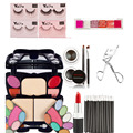 Make Up Set False Eyelashes Curler Lipstick 6 Color Lip Gloss Eyeliner Gel Lip Brushes Concealer Contour Makeup Palette