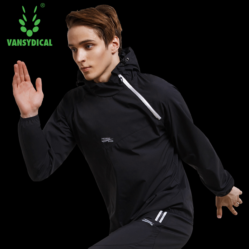 Image 5 - Vansydical Mens Hot Sweat Sports Jackets Zipper Running Tops Windproof Outdoor Sports Hoodies Quick Perspiration Gym Clothes-in Running Jackets from Sports & Entertainment on AliExpress
