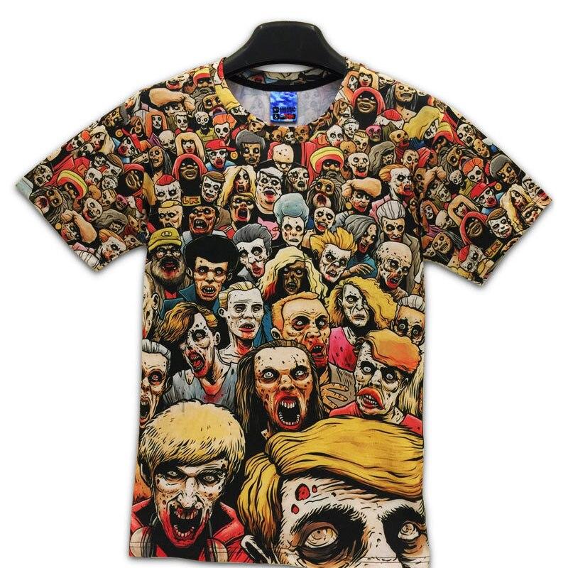 T-Shirt New The Walking Dead Men T Shirts Walker Skull Zombies High Quality Crewneck Top Tees Short Sleeve Summer