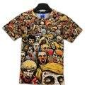 T-Shirt Camisas Dos Homens T de Nova The Walking Dead Walker Crânio Zombies Alta Qualidade Crewneck Top Camisetas de Manga Curta de Verão