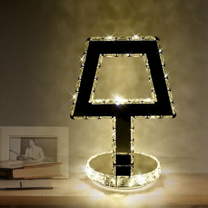 New brief design led table light modern crystal table lamps bedroom led light table fast shipping in table lamps from lights lighting on aliexpress com