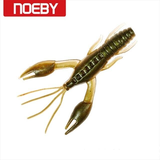 NOEBY 6 piezas de cangrejo suave señuelo 60mm y 1,6g gusano Señuelos de Pesca pescado atractivo de cebo de pesca s5499