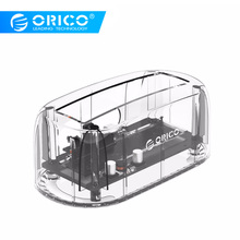 купить ORICO 2.5''/ 3.5 HDD Transparent Docking Station Support 8TB Storage UASP Protocol USB 3.0 to SATA 3.0 Hard Drive Enclosure дешево