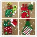 2017 árbol De Navidad traje apoyos de la foto Del Bebé infant toddler sombrero + bufanda + pantalones fotografie Outfit Recién Nacido accesorios de Fotografía