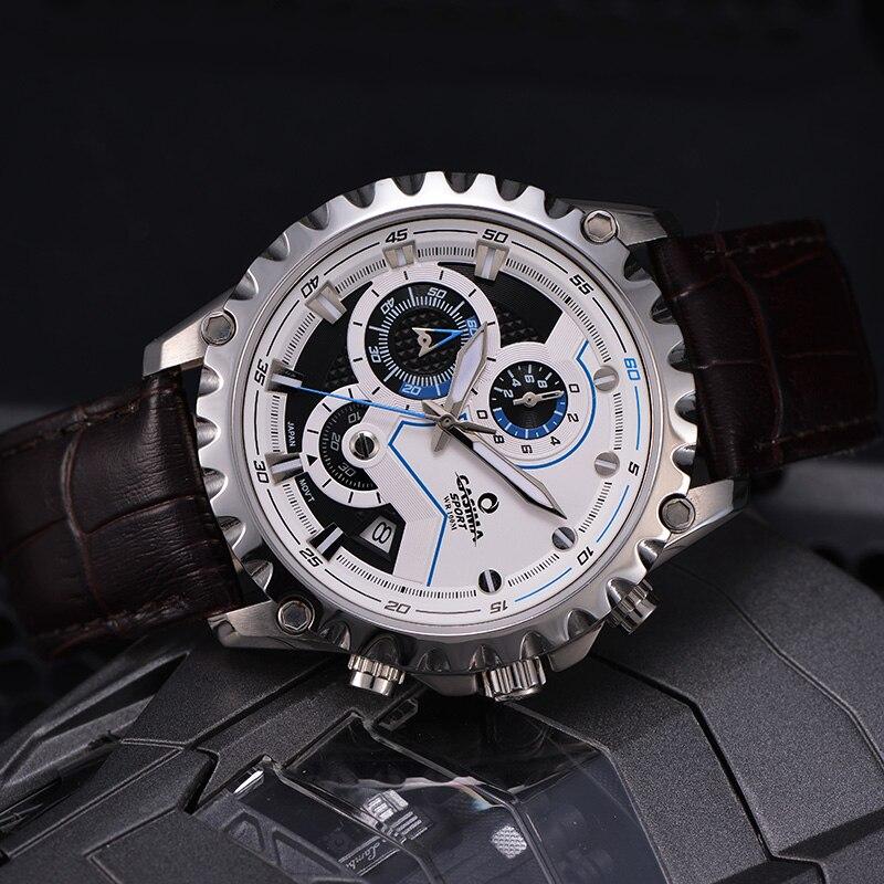Новый Элитный бренд часы Для мужчин модные роскошные Многофункциональный очаровательные спорта Для мужчин кварцевые часы waterproof100MCASIMA #8203 - 5