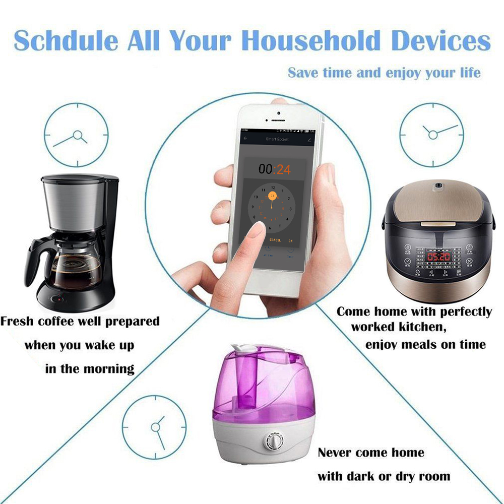 HTB1Co JaULrK1Rjy1zbq6AenFXau - EU US UK Voice Remote Control Home Plug Remote Work with Google Home Alexa IFTTT Smart Plug Wifi Smart Socket Power Monitor