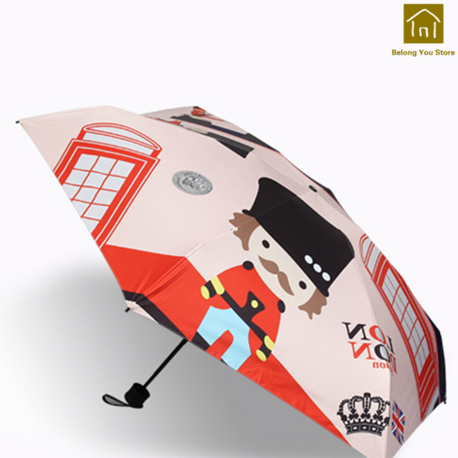 Protection solaire extérieure Durable poignée poche pliante de haute qualité Transparent pluie Parapluie Femme nécessités quotidiennes WKW105