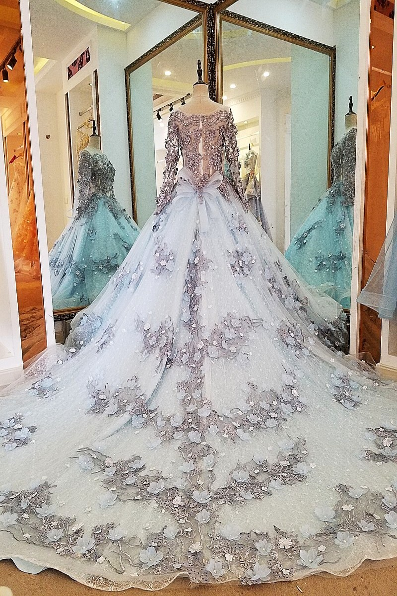 Image 5 - LS00034 evening dress lace beading ball gown long party formal dress organza robe de soiree abendkleider 2018 real photosrobe de soireerobe dereal photo -