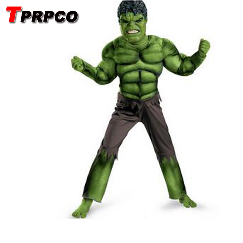 TPRPCO Halloween Cosplay Clothing Kids Boys Green Hulk Costume Incredible NL1341