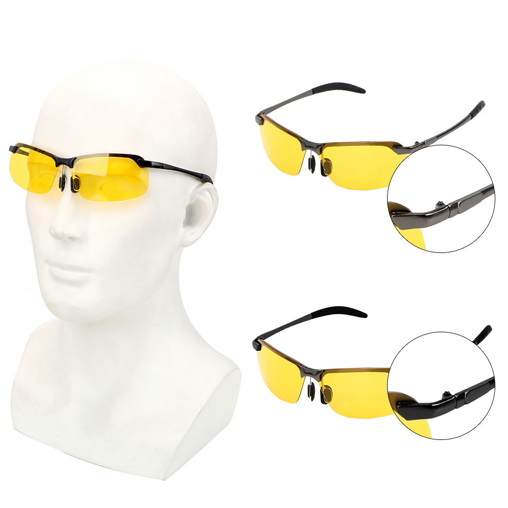 Car Driver Goggles Night Vision Sun Glasses Polarized Sunglasses UV Protection Eyewear  Auto Accessories UV400 Driving Glasses