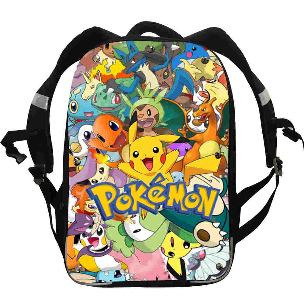 Pokemon Party Pikachu Big Backpack Insulated Lunch Bag Pen Case Shoulder Bag Lot