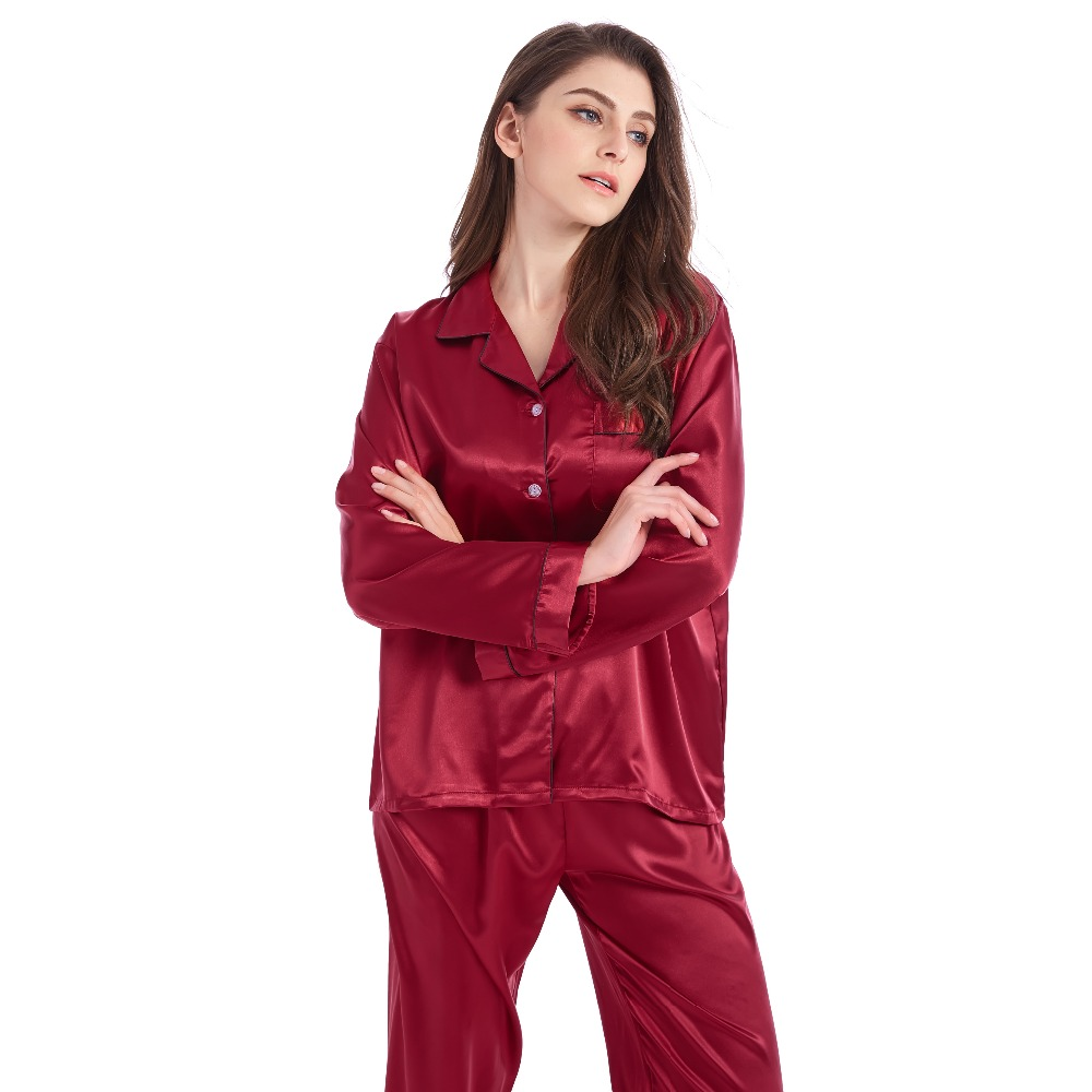 Detail Feedback Questions about Tony Candice Women Silk Pajamas 2 ... 1e9b23438