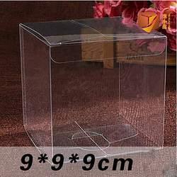 1 лот = 10 шт. 9*9*9 см прозрачной подарочной коробке разных размеров квадратной формы упаковочная коробка из ПВХ Пластик упаковку для