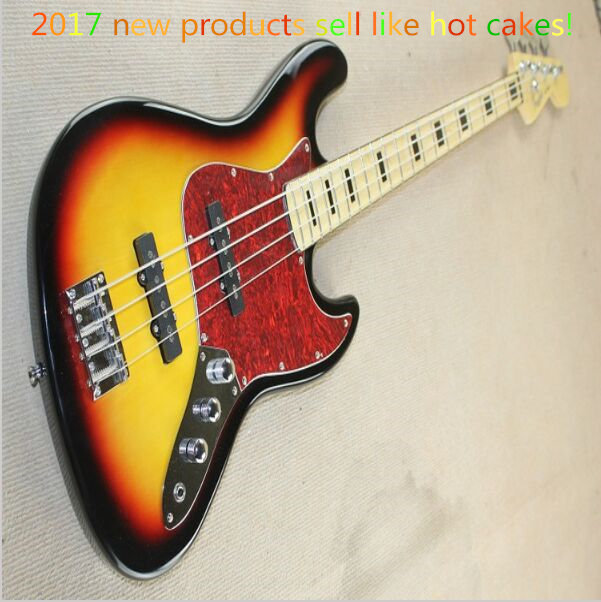 Free Shipping !High Quality custom sunset color Electric bass Guitar 4 string Jazz Bass guitar