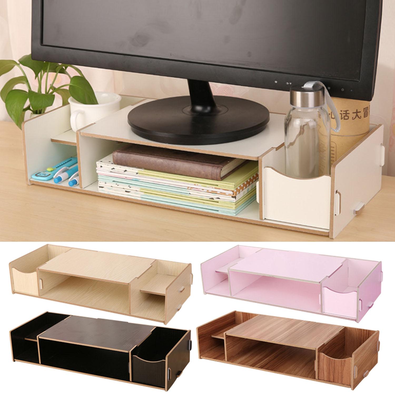 Exhibition Stand Organizer : Besegad computer display monitor riser stand holder desk