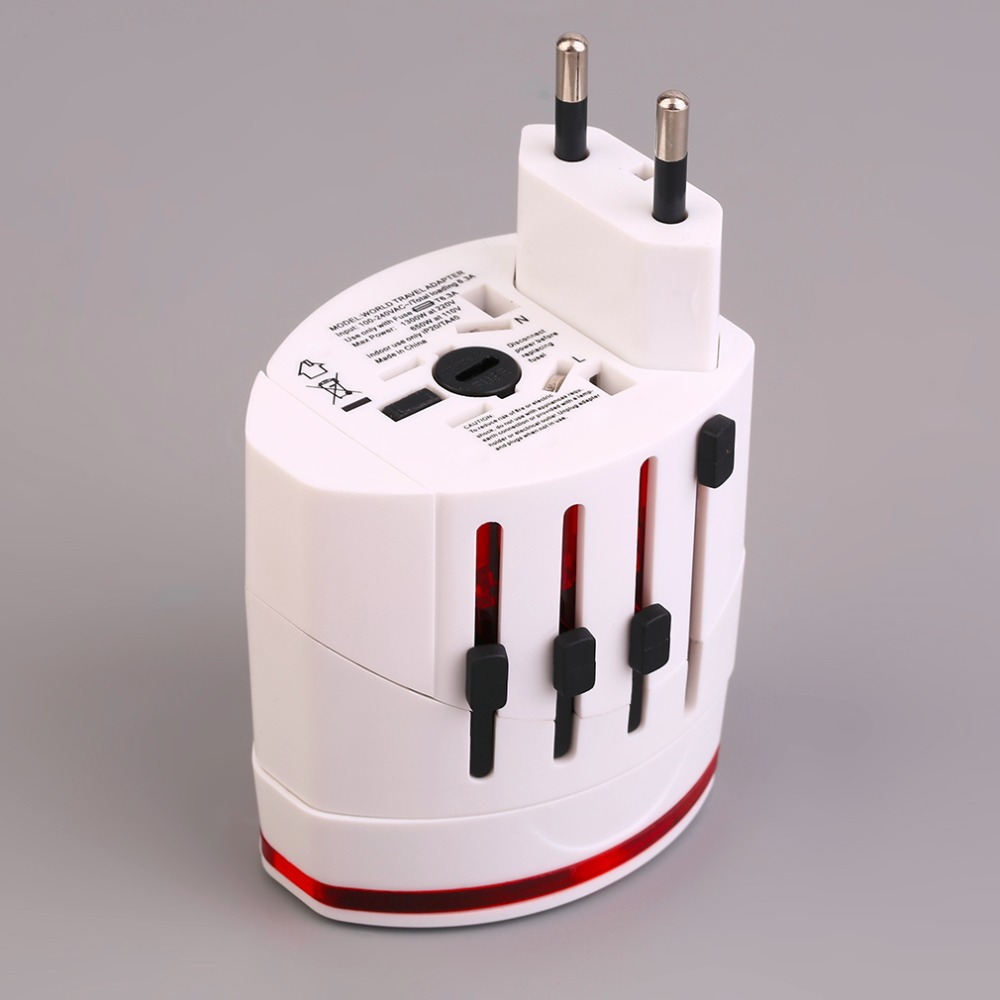 Professional Universal Worldwide Travel Power Plug Wall AC Adapter Conversion Socket Dual USB Charging Port Charger