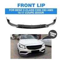 Carbon Fiber Front Lip Spoiler Apron For Mercedes Benz C205 C63 AMG S Coupe 2 Door