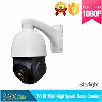 CCTV 1080P 2MP 36x 4 in 1 starlight Zoom auto tracking PTZ camera motion High Speed 80M Mini Auto tracking Camera