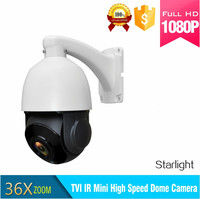 CCTV 1080P 2MP 36x 4 In 1 Starlight Zoom Auto Tracking PTZ Camera Motion High Speed