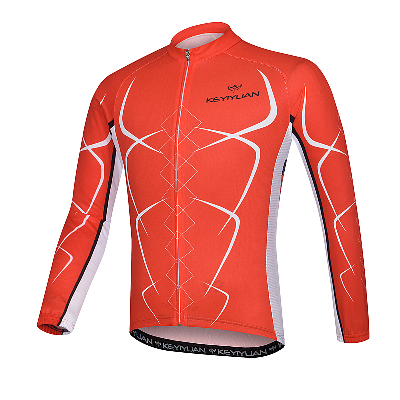 KEYIYUAN cycling suit long sleeve men riding clothing breathable coat summer suntan quick-drying mountain bike ride is suitable