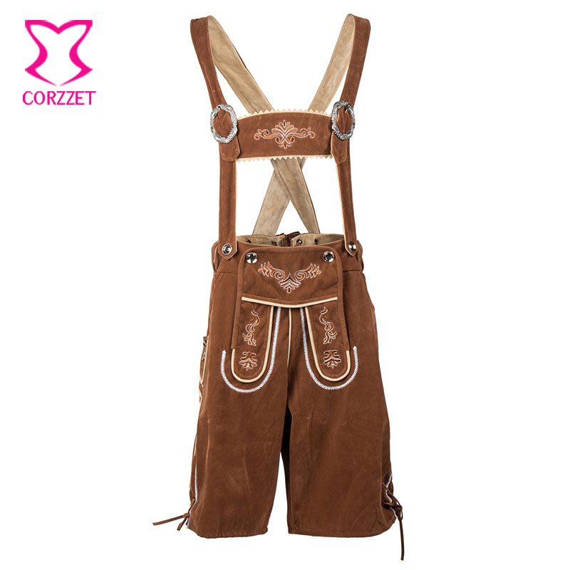 Brun Oktoberfest Bière Festival Sexy Hommes Costume Hommes Cosplay Uniforme Allemand Bavarois Costumes Carnaval Halloween Outfit Adulte