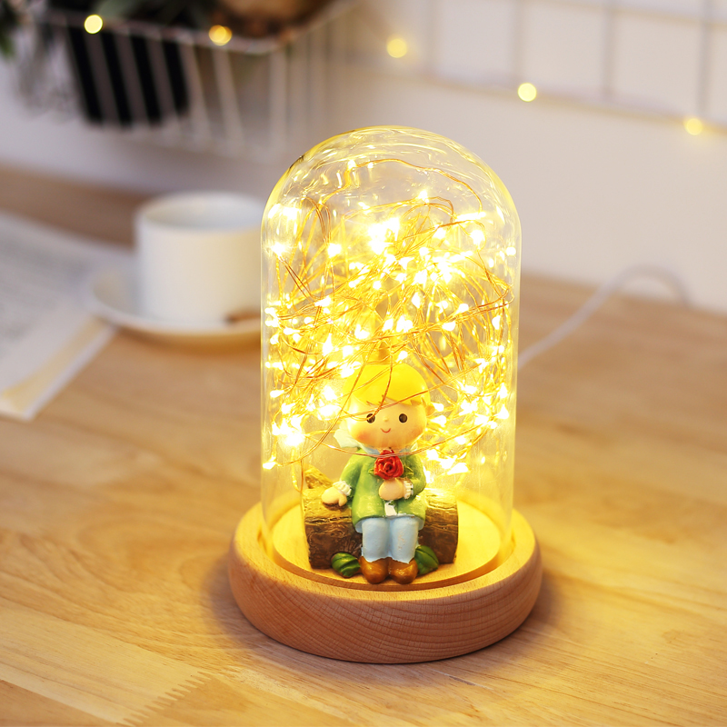 LED Night Lights Creative Desk Lamps Indoor Holiday Lighting Distinctive Gift Starry Sky LED String Table Decorative Bulbs NL02