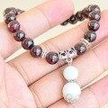 Boutique AA grade garnet bracelet 7-8MM natural garnet beads with jade gourd bracelets for women new Christmas gift 0668